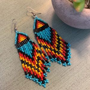 Anthropologie chic tribal earrings